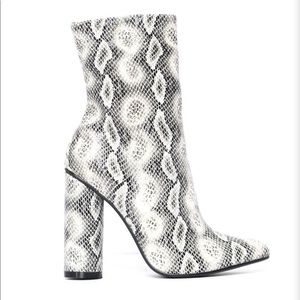 Fashion Nova faux suede heeled boots